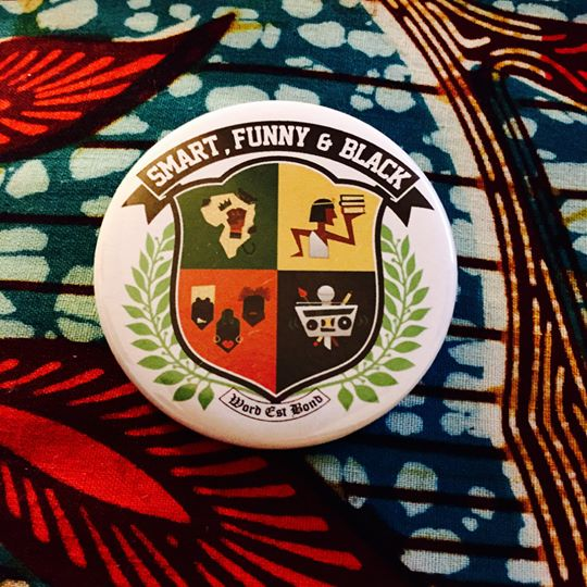 Image of Smart Funny & Black Button