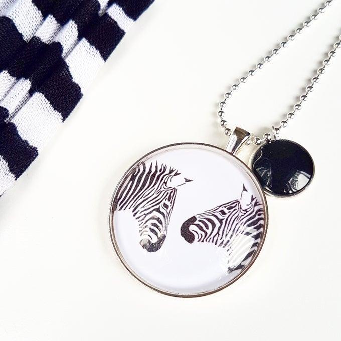 Image of NEW! 1.5inch pendant - Stripey Secrets