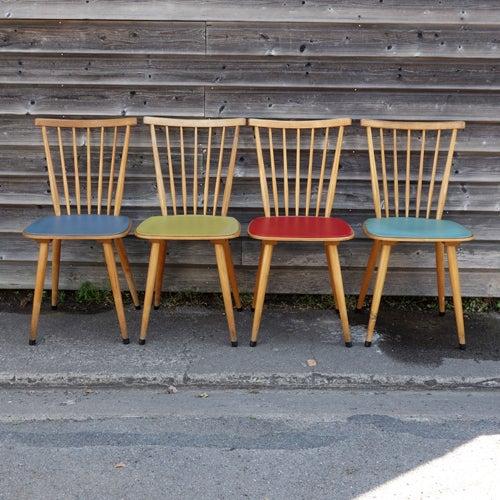 Image of Ensemble de 4 chaises années 50 N°2