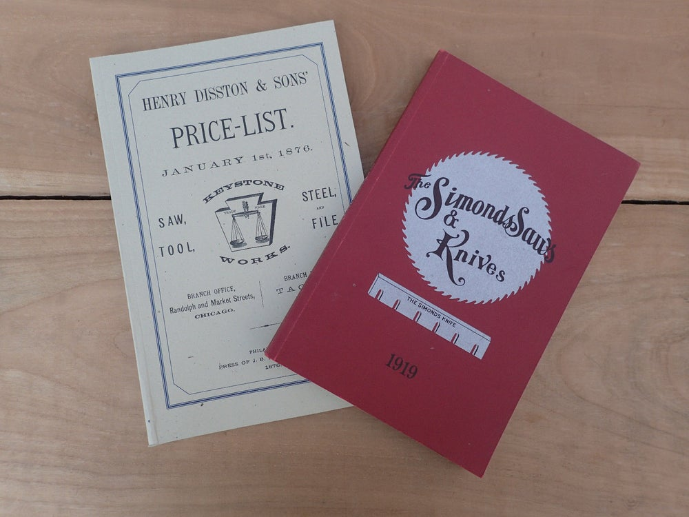 Image of NEW OLD STOCK: Catalogue Reprints: Simonds Saws 1919 & Disston Keystone works 1876