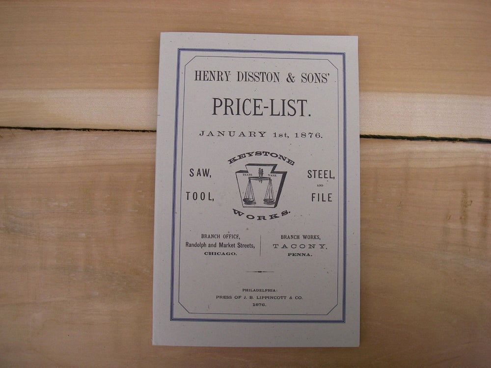 Image of Handsaws Catalogue reprint Disston & Keystone Saw works 1876