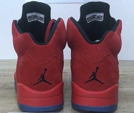 Image of AIR JORDAN 5 RED SUEDE