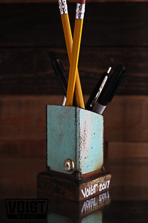 Image of Desk organizer/Small: Pencil Pusher Robot Blue