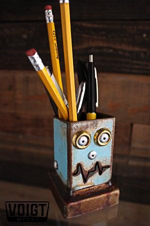 Image of Desk organizer/Small: Pencil Pusher Robot Sky Fox