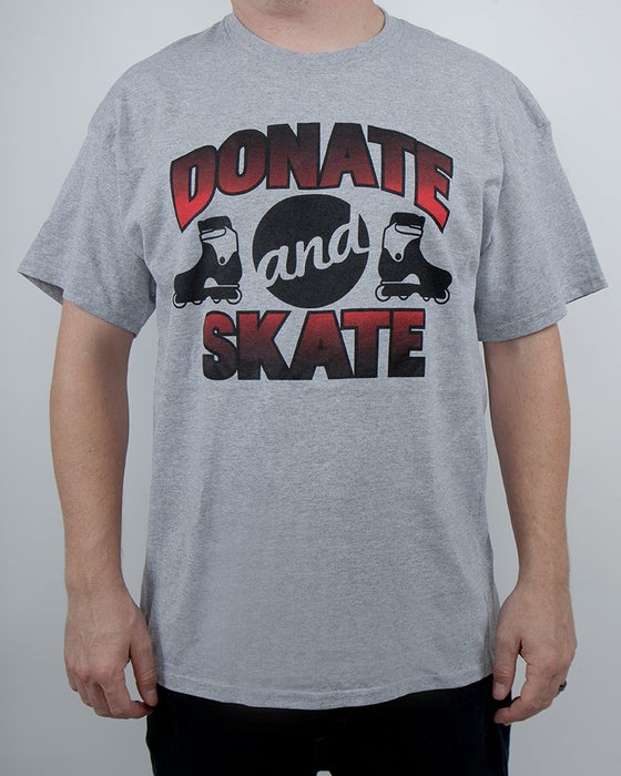 Image of Donate and Skate tee
