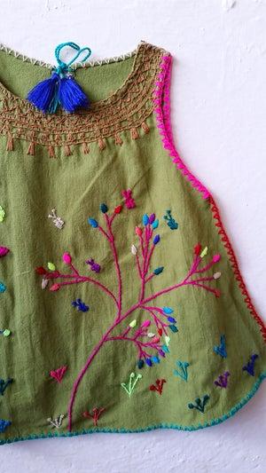 Image of Moss Botanical Kahlo Top