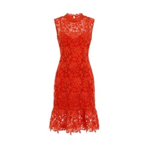 Image of Orange Crochet Dress