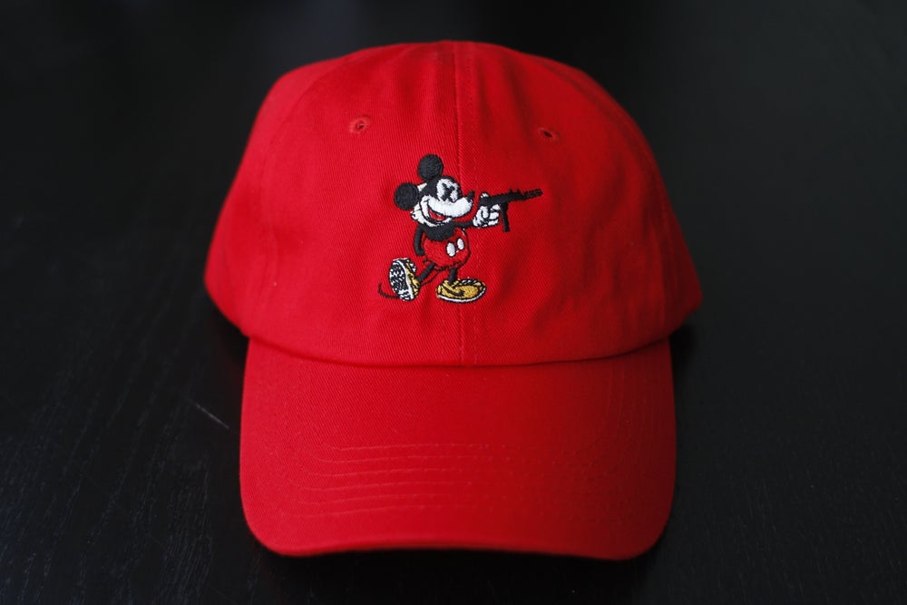 "Image of ""Reign of the Tec"" Dad Hat in Red"