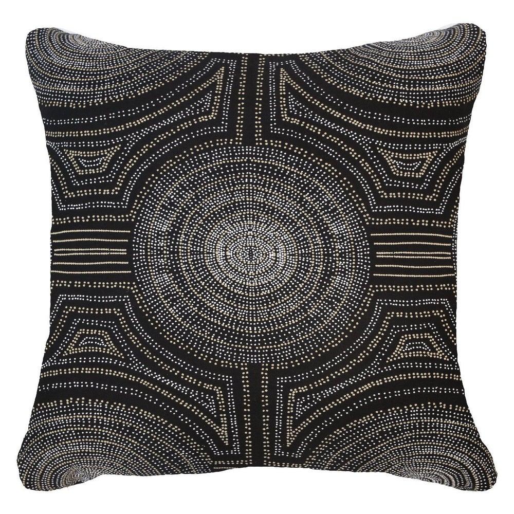 Image of Dot Black Lounge Cushion