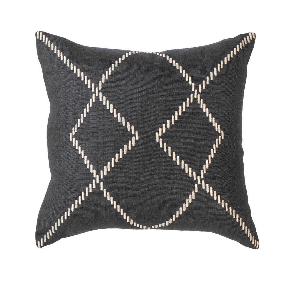 Image of Stitched Black Cushion