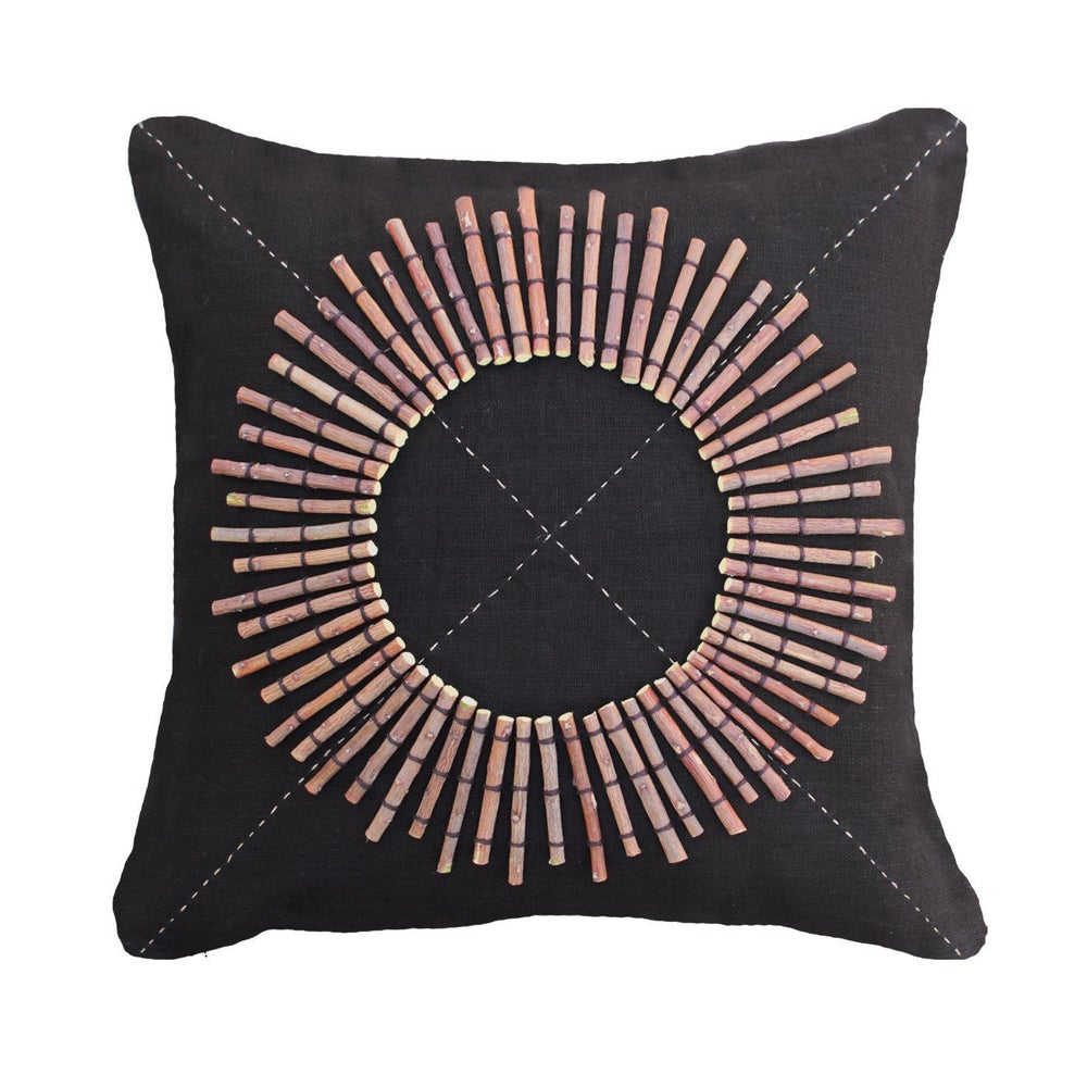 Image of Tribal Round Shield Cushion
