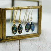 Image of Sitha - Black Fire Opal Earrings