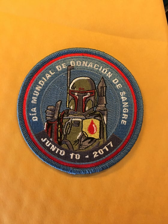 Image of 2017 World Blood Drive Day Patch Spanish version INSTOCK