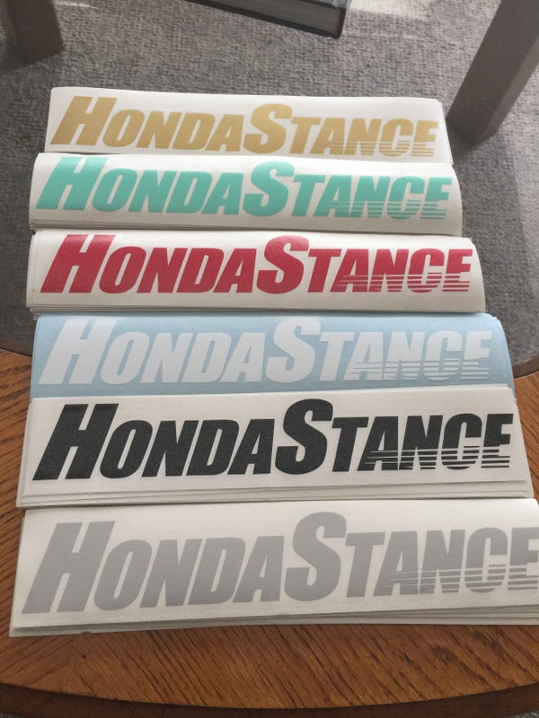 Image of HondaStance Die Cut Vinyl Sticker