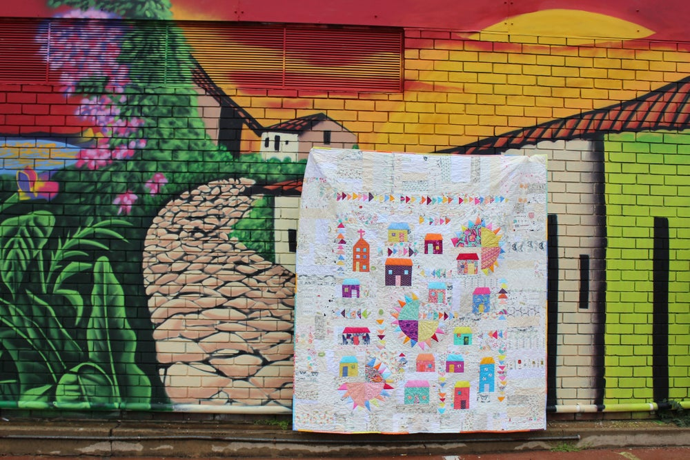 Image of Caribbean houses quilt