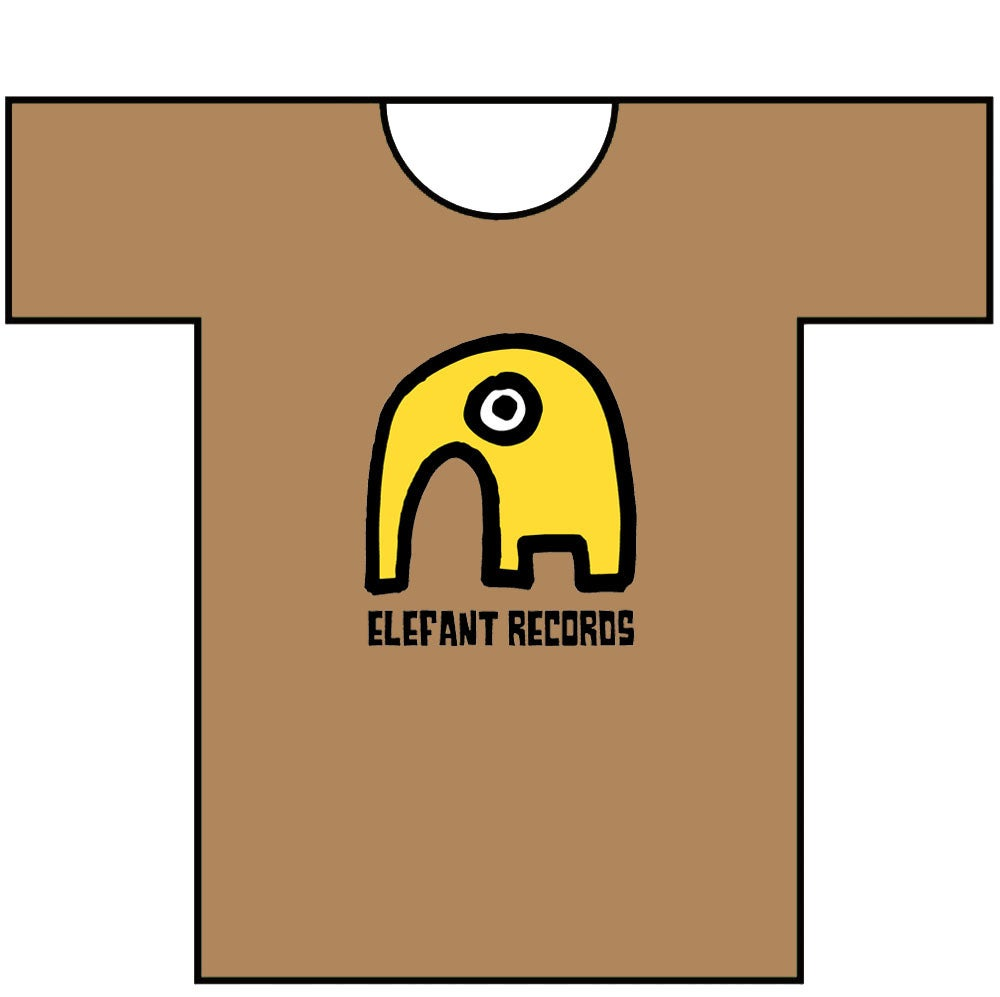 Image of ELEFANT RECORDS T-SHIRT: HAZELNUT (Various sizes)