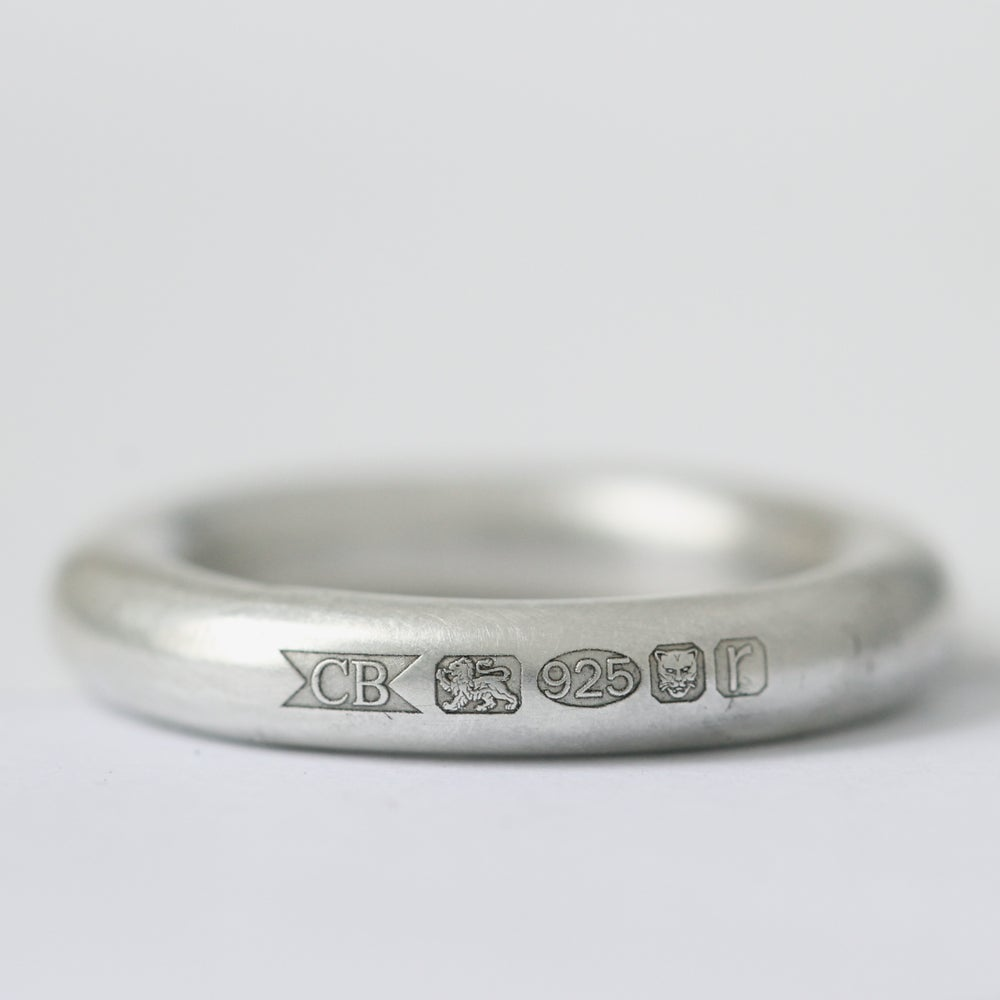 image of silver hallmark ring mens silver wedding ring chunky wedding ring