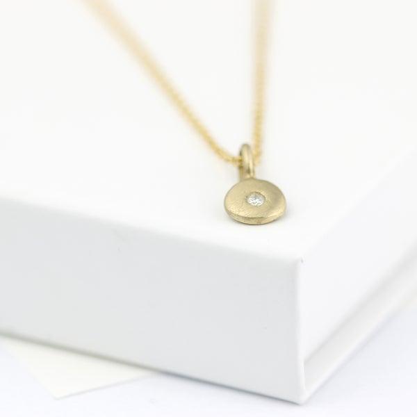 Image of delicate diamond necklace, gold diamond necklace