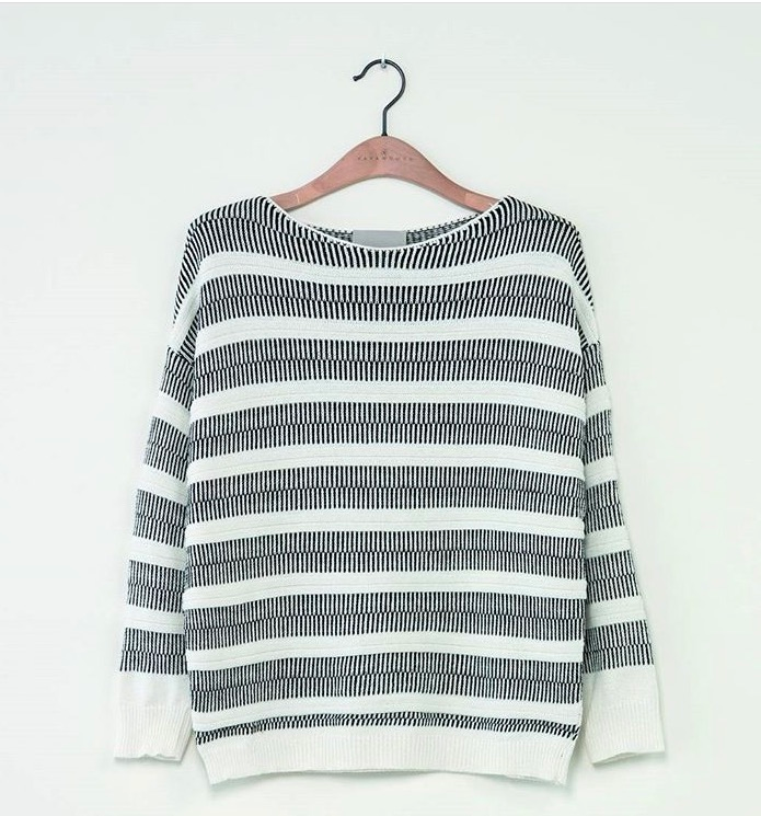 Image of Stripe textured sweater