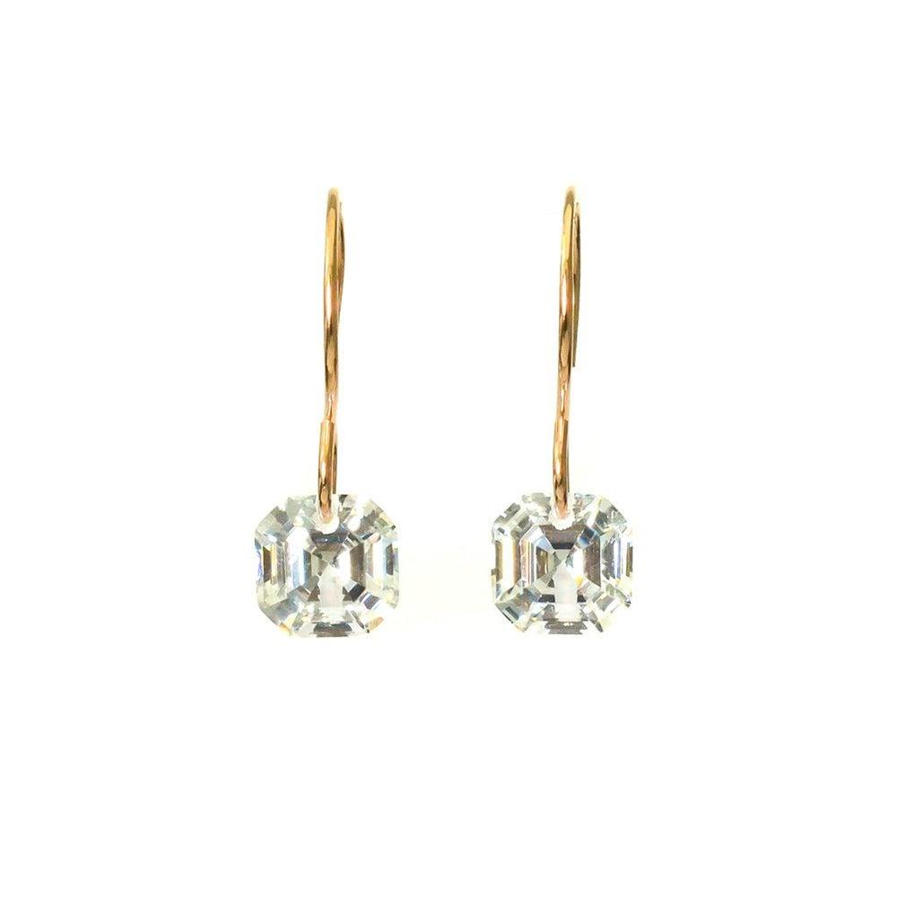 Image Of Asscher Cut Cubic Zirconia Earrings Zoom · Image