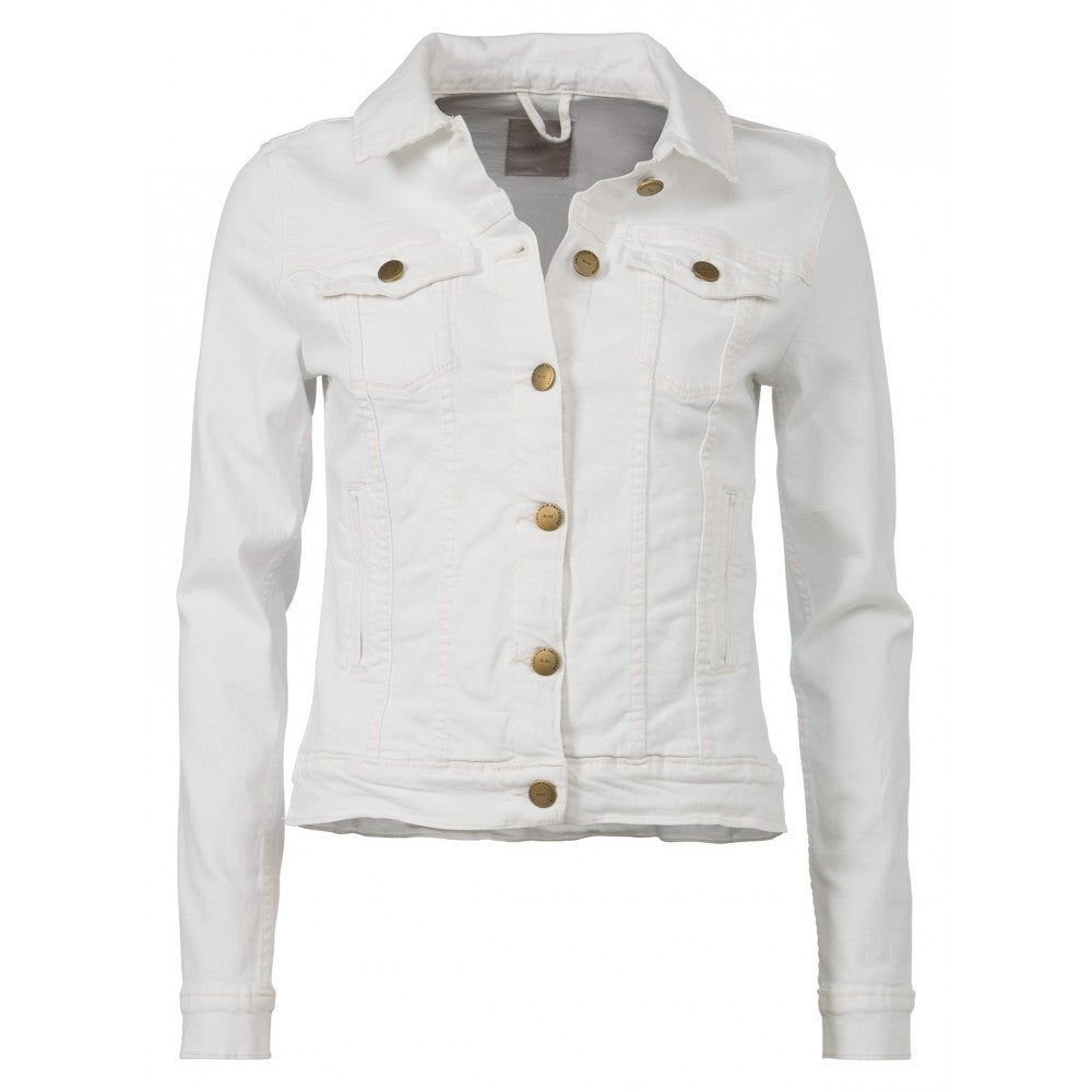 Image of Classic White Denim Jacket