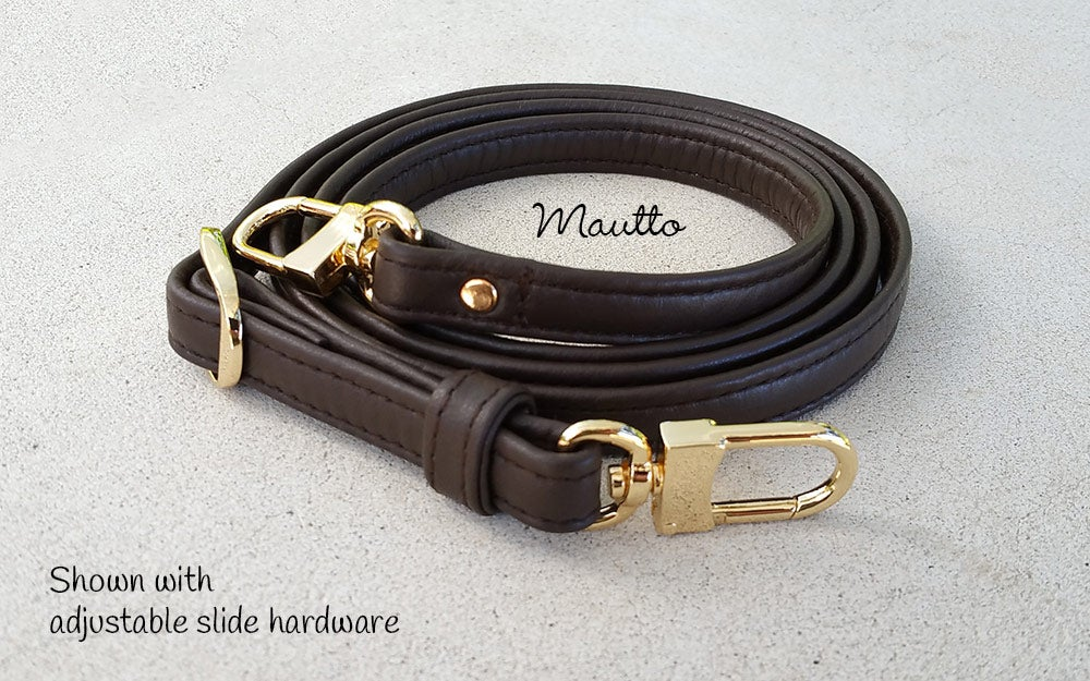 "Image of Dark Brown Leather Strap for Louis Vuitton, Coach & More - .5"" Wide - Fixed or Adjustable Lengths"