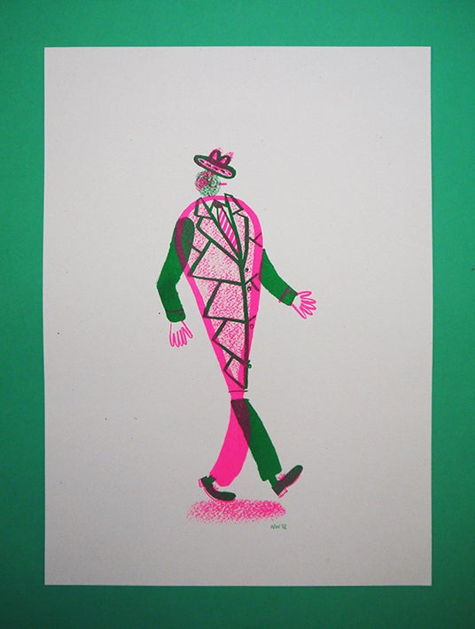 Image of 'Hey I'm Walking here!' - Howard - A3 Risograph print