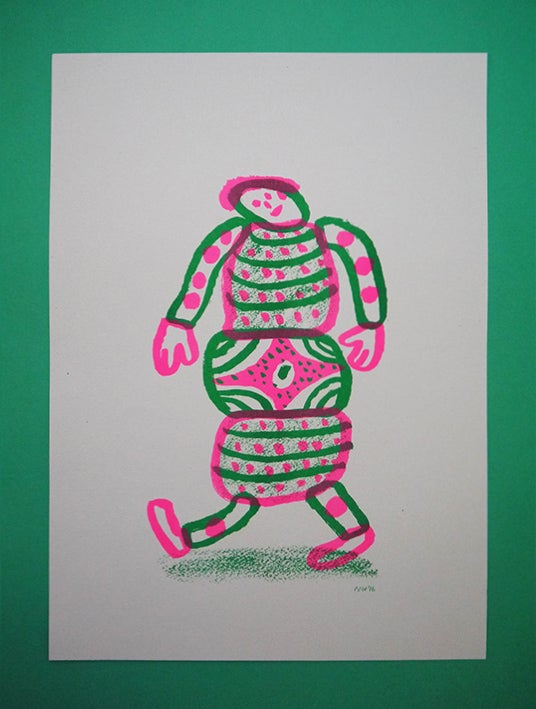 Image of 'Hey I'm Walking here!' - Terry - A3 Risograph print