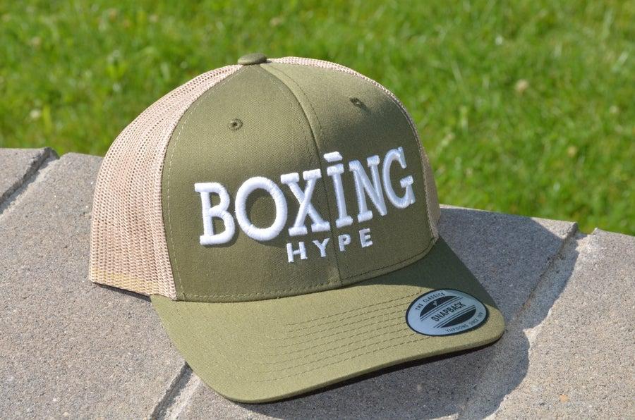 Image of Curved BoxingHype Trucker Snapbacks