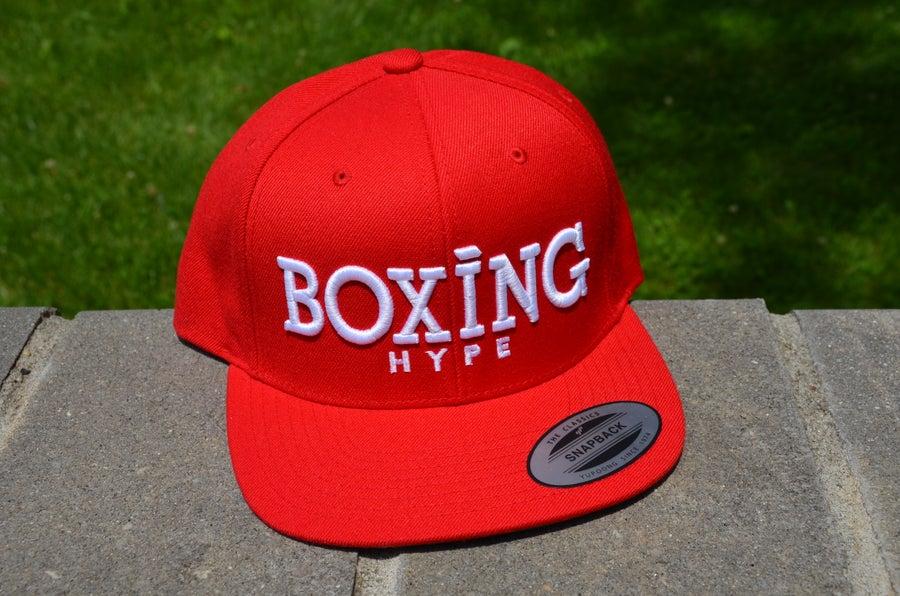 Image of RED/White Classic BoxingHype SnapBacks