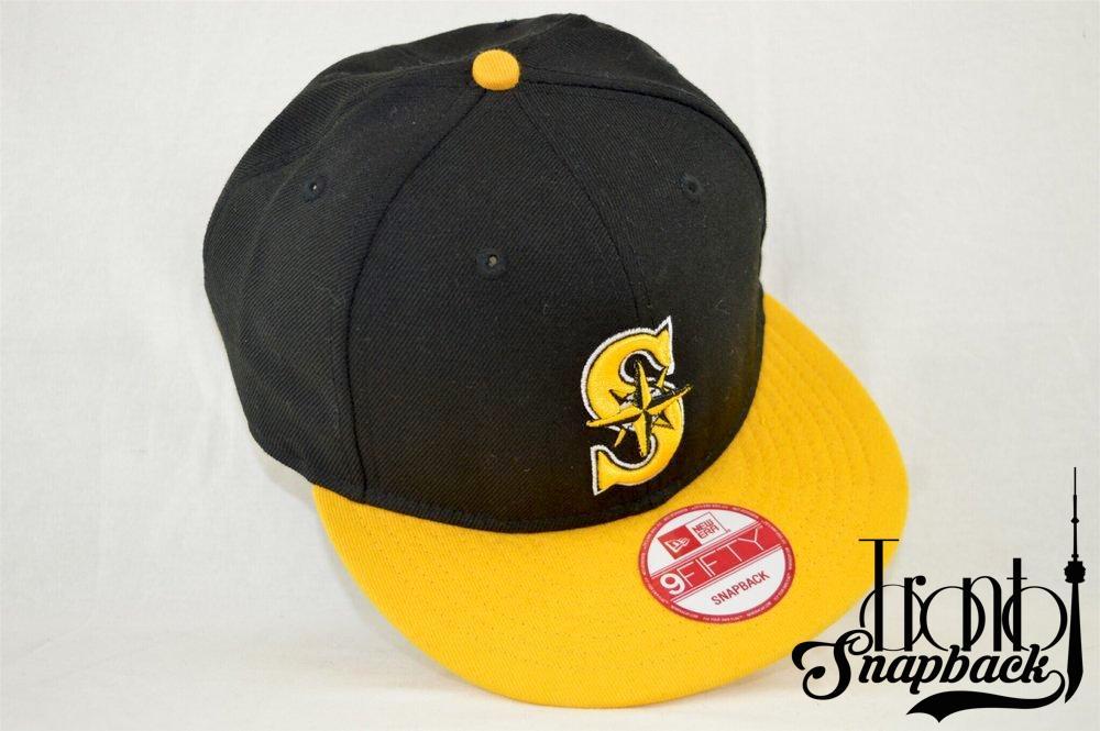 Image of Seattle Mariners Black & Yellow New Era 950 Snapback