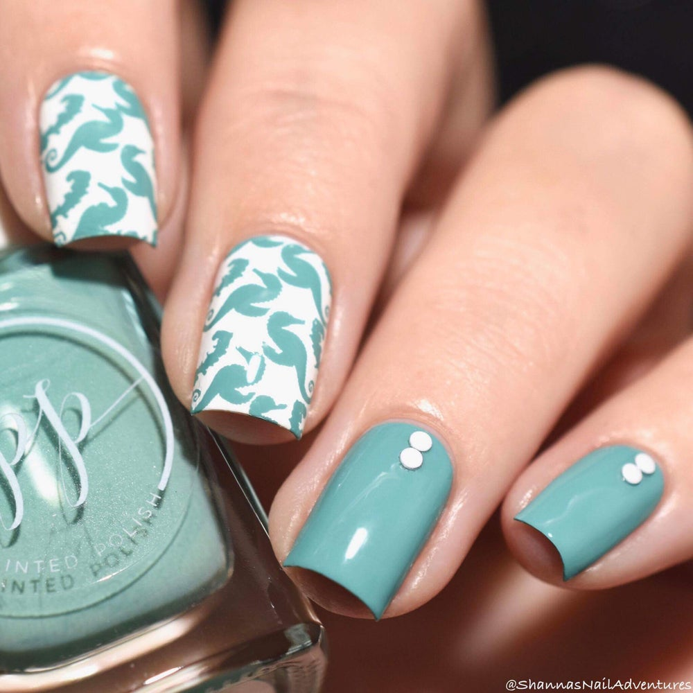 Image of Stamped in Seafoam