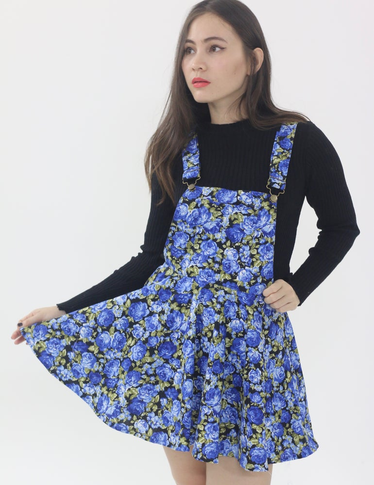 Image of Blue Roses Pinafore