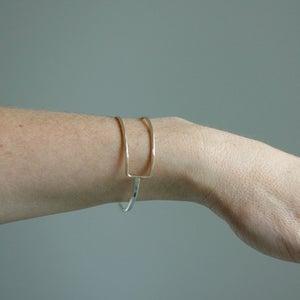 Image of Latitude Cuff - Minimal and Geometric Handmade Bracelet Design