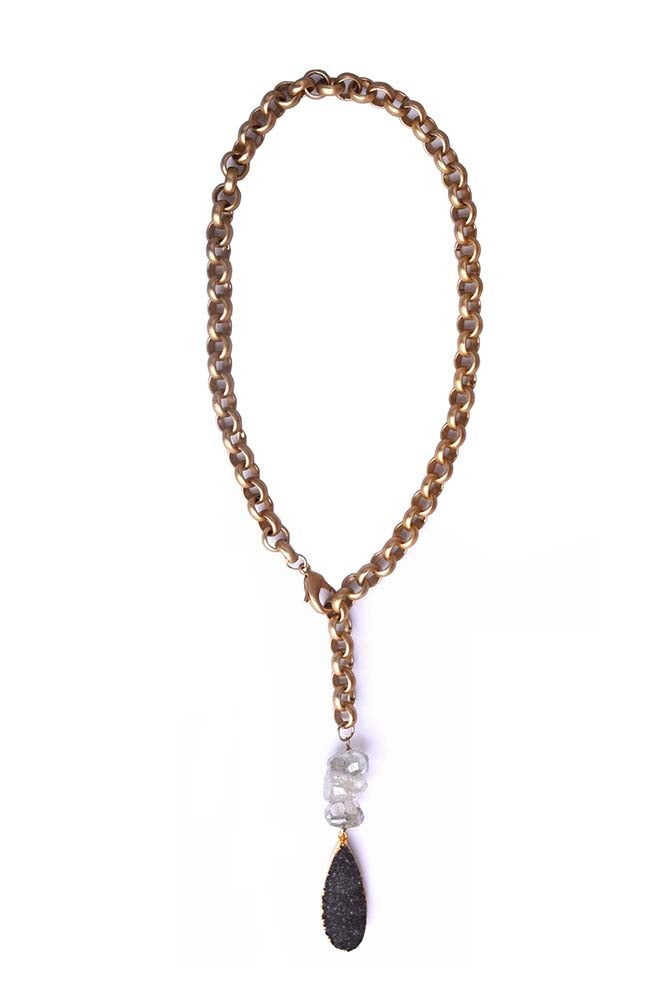 "Image of 24"" Matte Lariat Necklace"