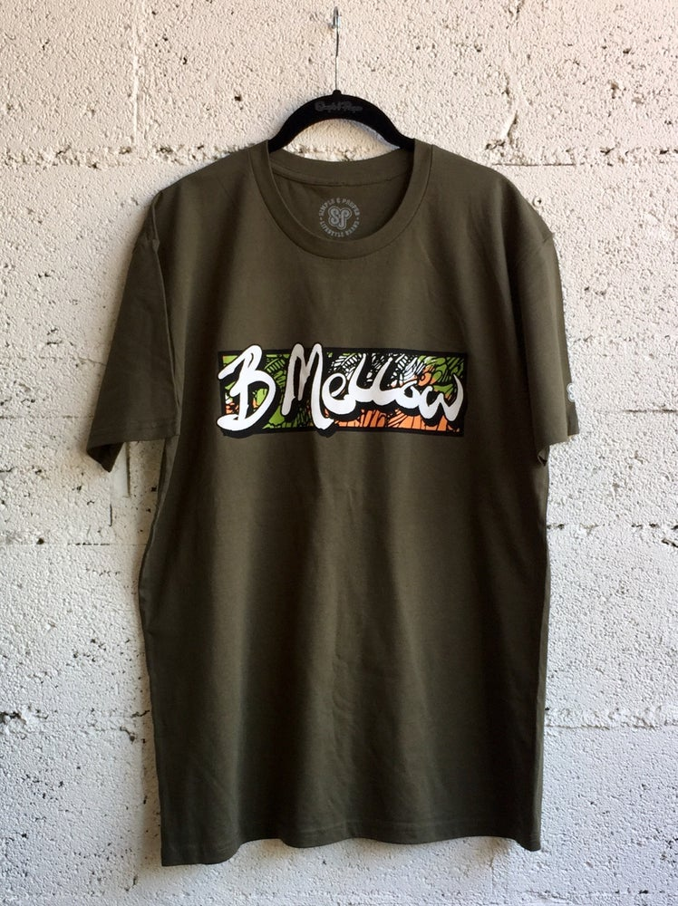 "Image of S&P-""B Mellow"" X Hampton Boyer Collab Tee (Army G.)"