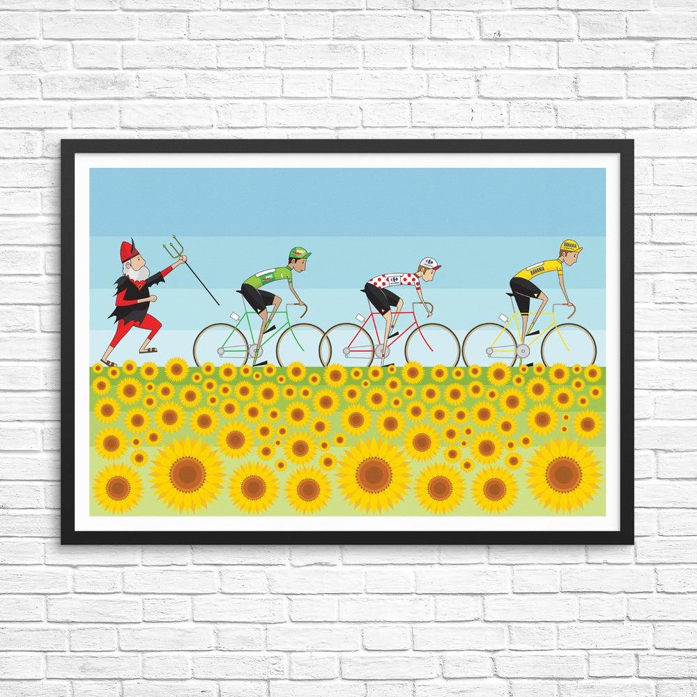 Image of Tour de France Sunflowers Print