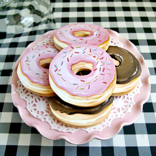 Image of Donut mini Plaques (your choice of pink or chocolate)