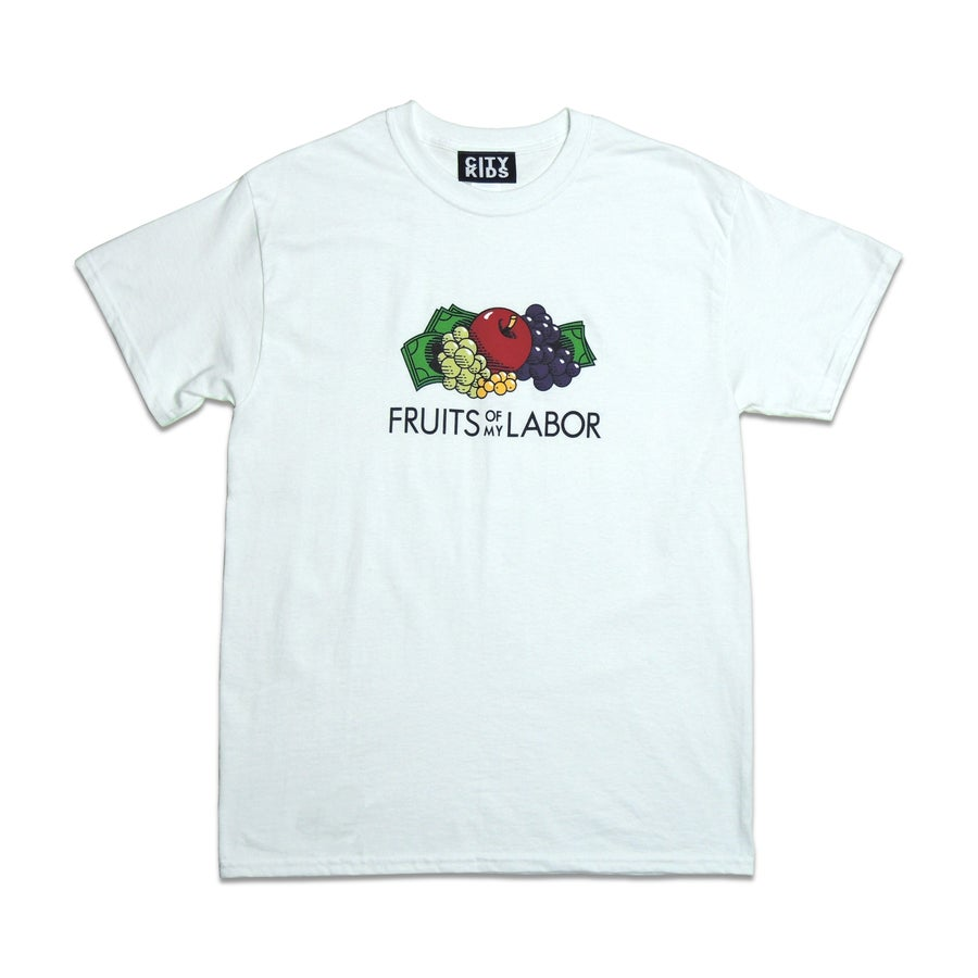 Image of Fruit$ Tee - White