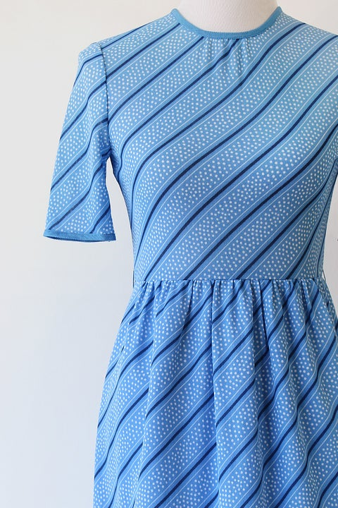 Image of Blue Candy Cane Dress