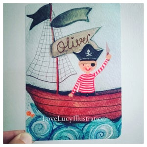 Image of Personalised Pirate Keepsake Card