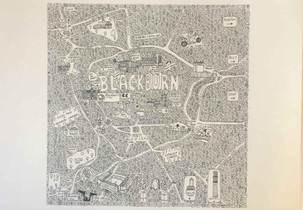 Image of Blackburn doodle map