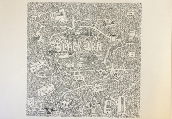 Image of Blackburn doodle map
