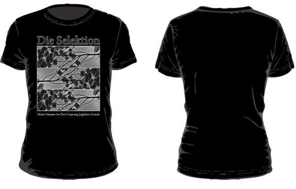 Image of Die Selektion - Deine Stimme Ist Der Ursprung Jeglicher Gewalt T-Shirt black (out: 31.7.2017)