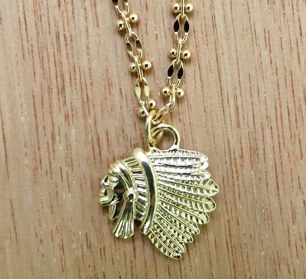 Image of Fearless Warrior Native Chief Necklace