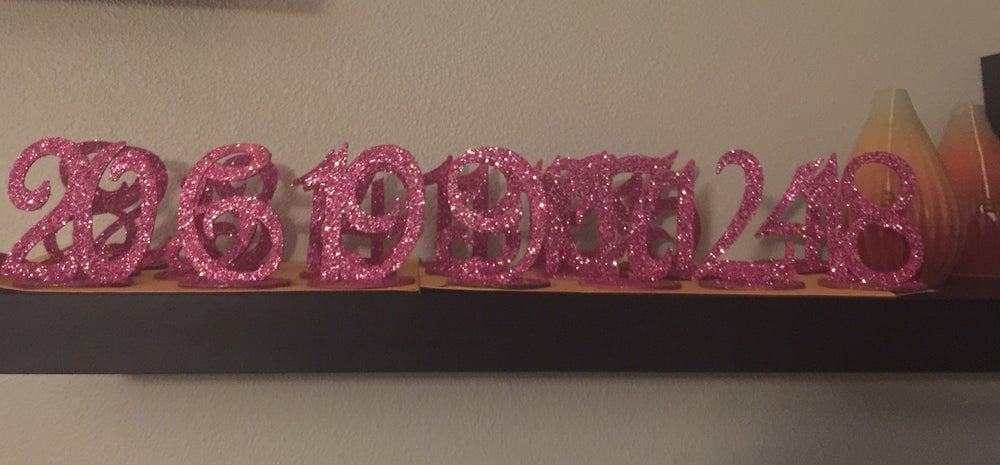 Image of Glitter Table Numbers