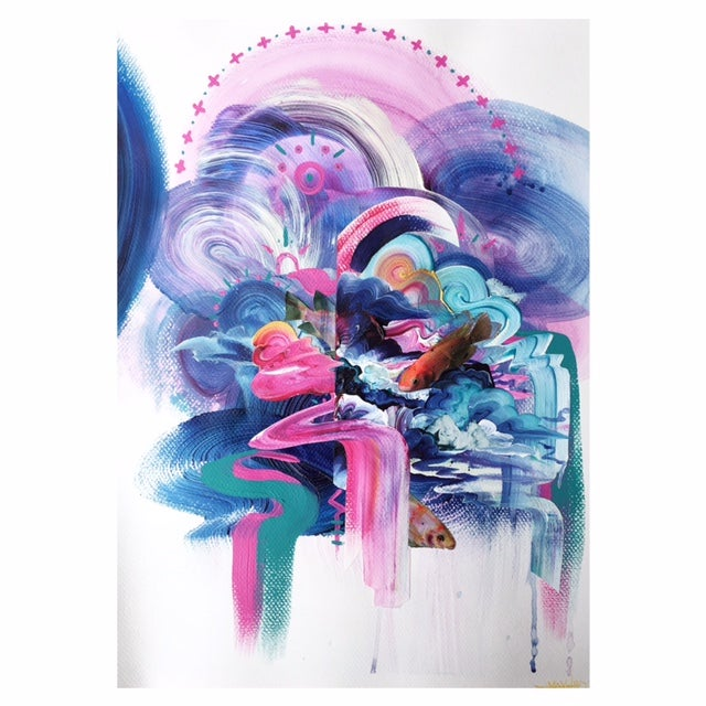Image of Fairy Floss Flow - Giclee Print