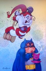 Image of Harley Quinn / Batman print....
