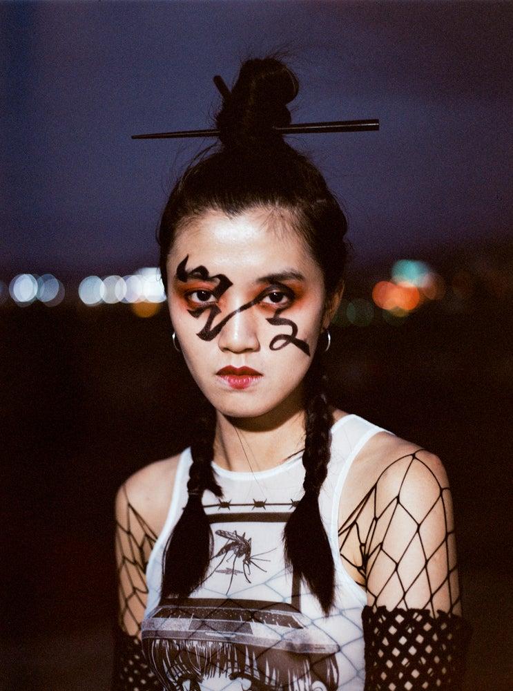 """Image of DVMVGE  """"Anti-Viral' by Yenta"""" Crop Top"""