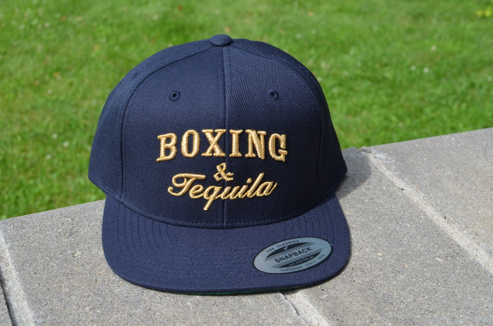 Image of Navy Boxing and Tequila Snapbacks